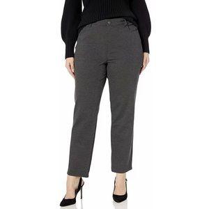 Gloria Vanderbilt Gray Straight Amanda Ponte Pants